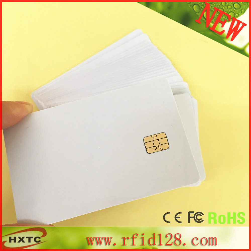 50PCS/lot ISO7816 Standard Contact Smart IC SLE4442 Chip Card for Access Control Cards(China (Mainland))