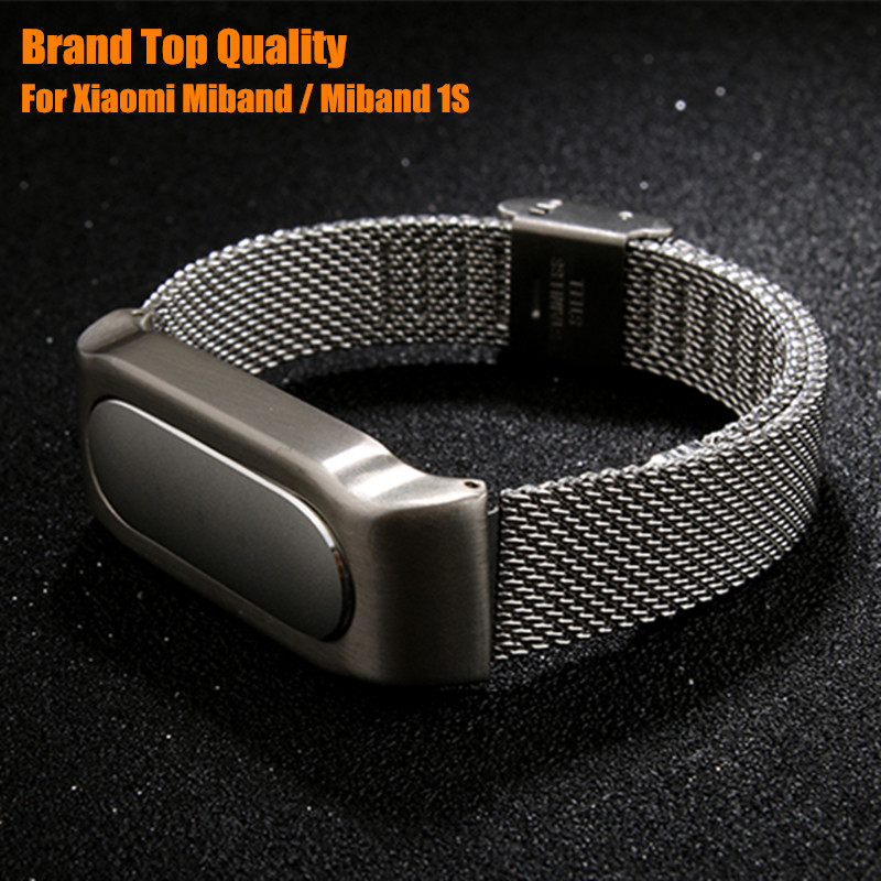 Brand Top Quality Xiaomi Mi Band Miband 1S Metal Strap Miband Wrist Band For Original Xiaomi Mi Band Miband 1S Smart Bracelet(China (Mainland))