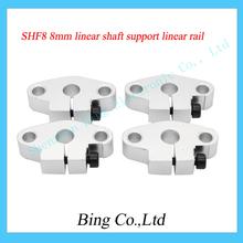 4pcs/lot SHF8 8mm linear bearing horizontal shaft support linear rail support CNC parts XYZ Table CNC Route Aluminum SHF8
