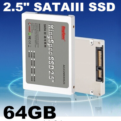ACJC2M064S25 2.5'' 64GB Solid State ssd 2.5 sata Hard disk Hard Drive KingSpec SSD SATA3 for Queueing machine Free Shipping(China (Mainland))