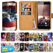 Cubot X15 Case Leather Universal Wallet Adjustble Printed Magnetic Stand Card Slot Flip Cover For Cubot H1 Cases large Size