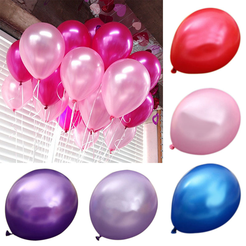 100pcs Latex Helium 12 Inch Ultra Thick Pearl Party Balloon Wedding Decoration J2Y(China (Mainland))