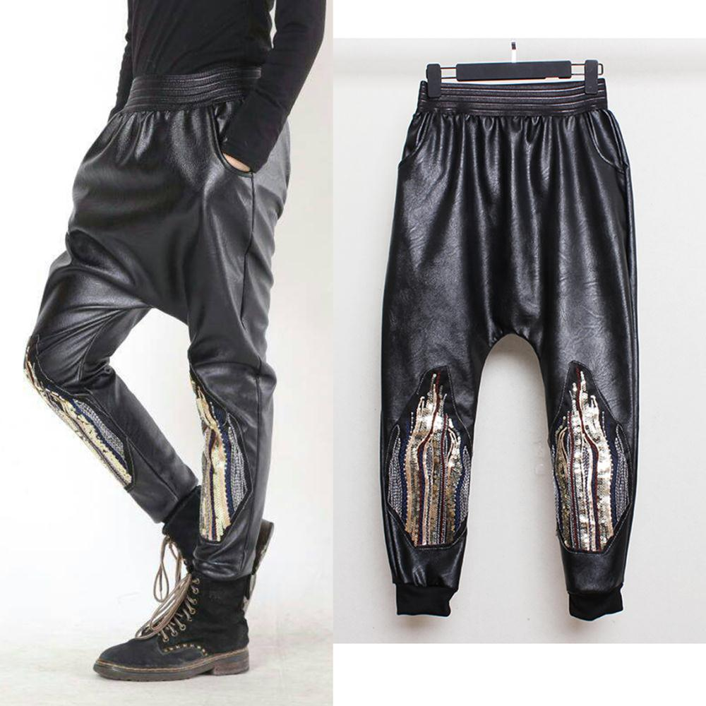Awesome Women39s Faux Leather Harem Pant  S  M  L  XL  EBay