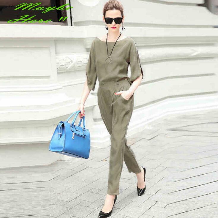 De estilo europeu quinta da manga blusa calças S-XL # 7086(China (Mainland))