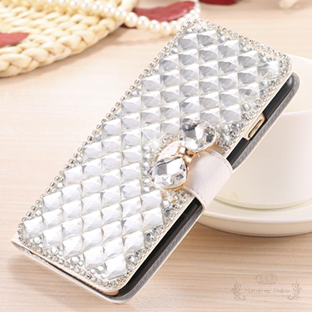 Роскошные bling Кристалл горный хрусталь Алмаз флип кожаный чехол для LG Оптимус F70 D315 кредитной карты держатель бумажник случая телефона