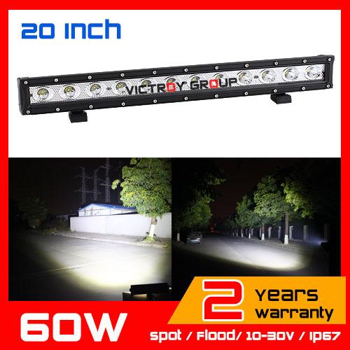 20inch 60W CREE LED Work Light Bar Spot / Flood Tractor 4x4 Offroad Fog light ATV LED Work Light External Light Save on 72W 100w<br><br>Aliexpress