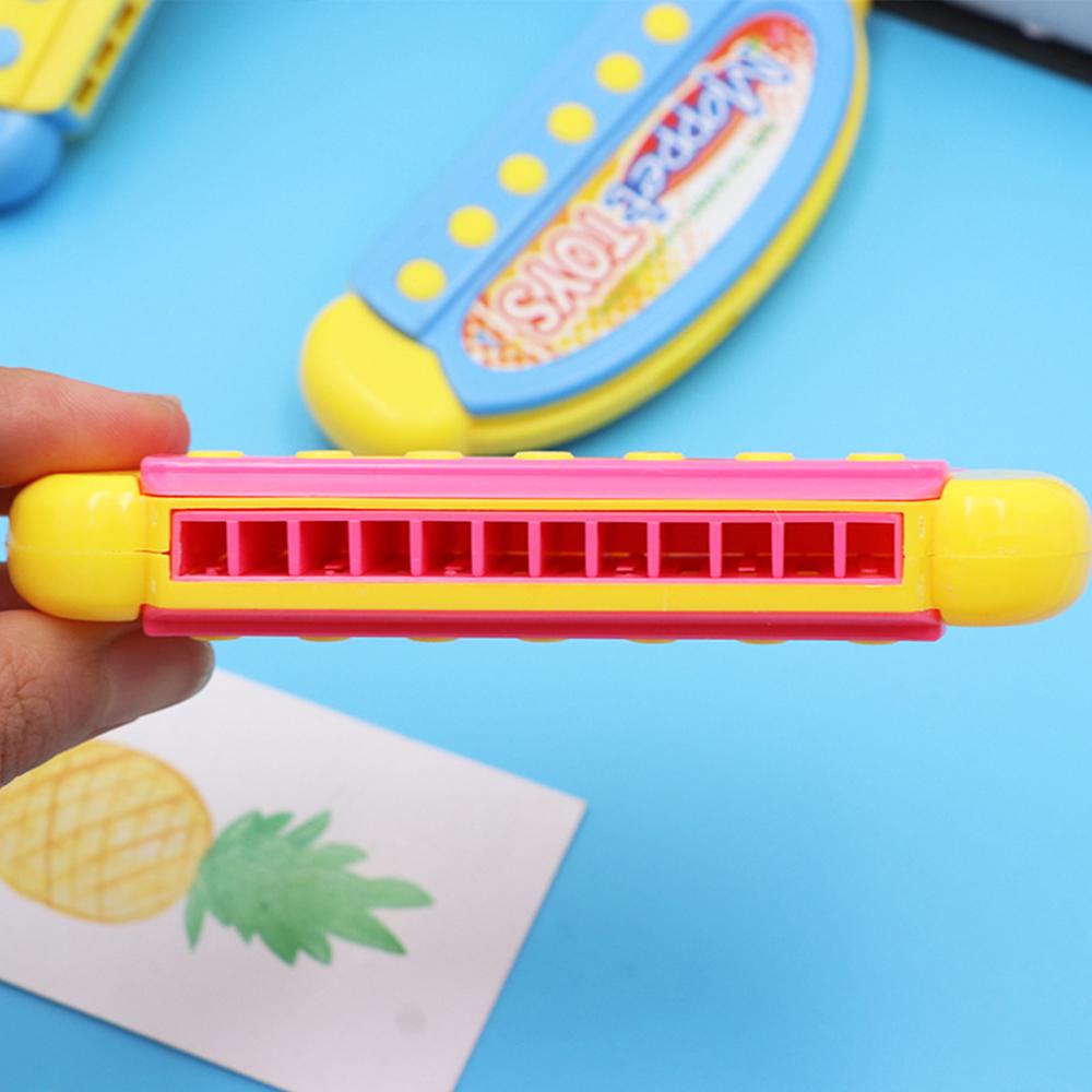 Kids Cartoon Plastic Harmonica Toy Fun Musical Early Educational Gift Toy CYC