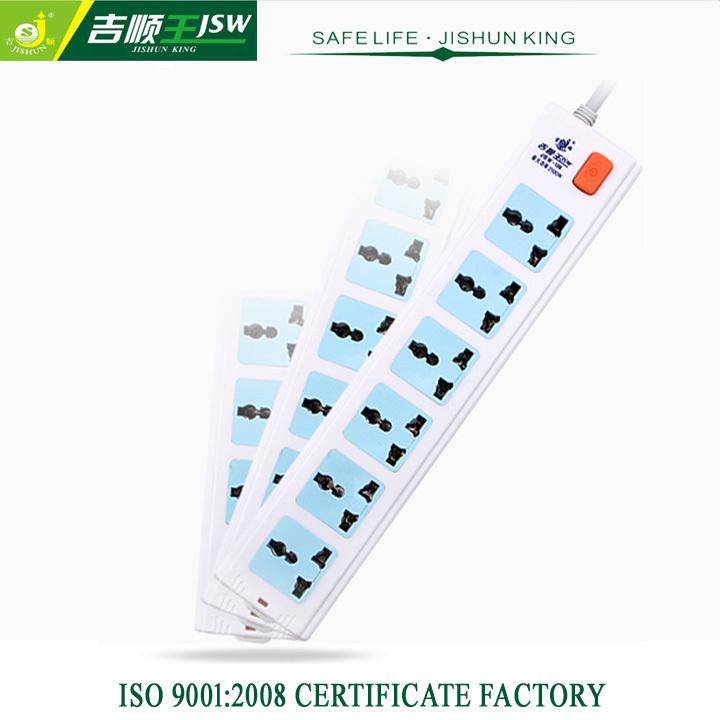 Residential 6 Gang Universal Extension Socket Electric Multi Plug Socket for UK,EU,US Plug 10A AC Retail Blue(China (Mainland))