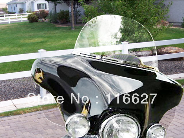 Clear Tinted Smoke Side wings Windshield Air Deflectors For Harley Touring FLHR FLHT