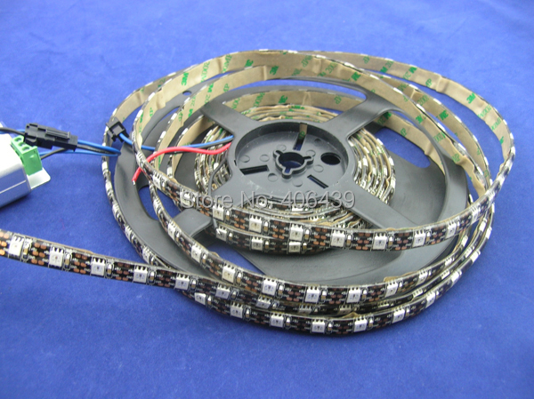 ,WS2812B digital led strip 60leds/m,with 6WS2811 built-in 5050 rgb chip;WATERPROOF IP65,Black PCB,DC5V - SCOTT LED Store store