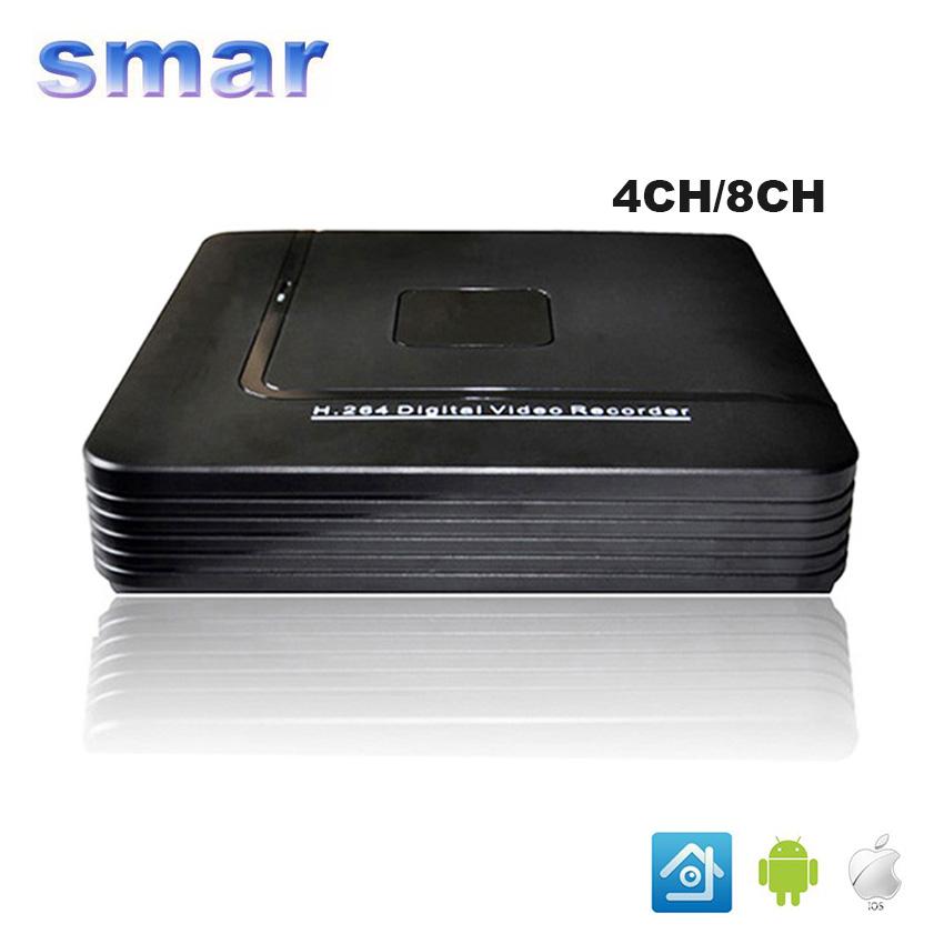 CCTV Mini DVR 4 Channel 960H Digital Video Recorder 8CH Hybrid DVR System P2P Cloud H264 Security Surveillance EU Power Plug(China (Mainland))