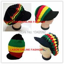 RASTA SERIES Jamaica MARLEY Knitted Reggae HIP HOP Beanie Hats Visor Cap(China (Mainland))