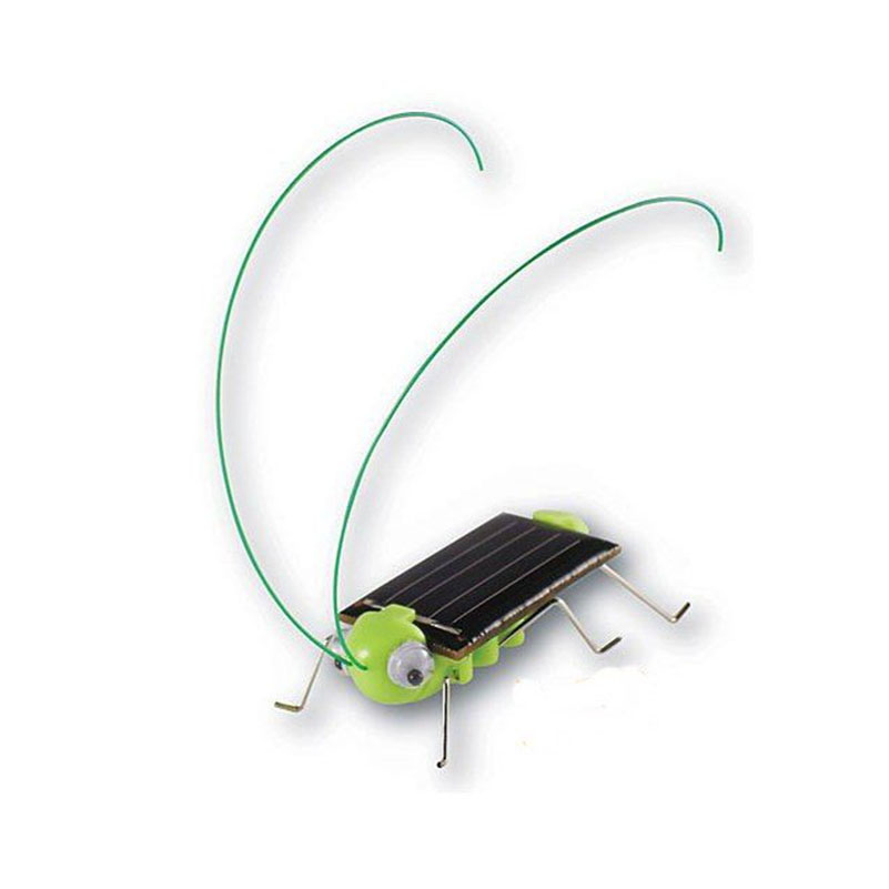 Grasshopper Solar Toy Solar Powered Toy Crazy Grasshopper Cricket Green Insect Bug Gadgets Juguetes Solares For Children Kids(China (Mainland))