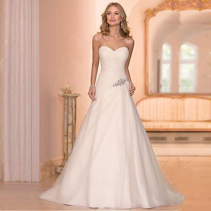Wedding Dresses Affordable London : Beaded cheap organza beach wedding dresses china ball gown elegant