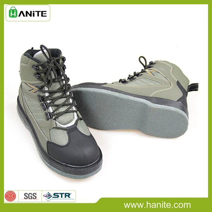 Fly fishing wader boots shoes felt sole in upstream shoes for Fly fishing wading boots