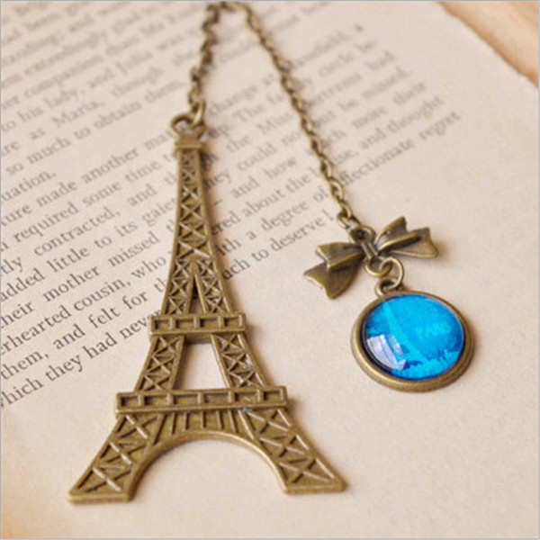 100 pcs Vintage Eiffel Tower Metal Bookmarks For Book Creative Item Kids Gift Korean Stationery<br><br>Aliexpress