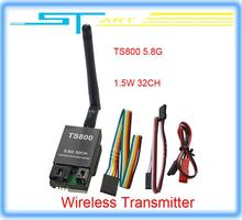 10pcs/lot Free shipping 32 frequencies 1.5W TS800 FPV 5.8G 32CH 1500mw Wireless AV Transmitter for Drone rc quadcopter girl gift