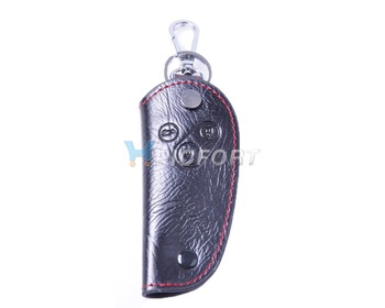 Free shipping &Tracking # Genuine Leather Smart Remote Key Case Cover for HONDA CIVIC ODYSSEY CRV CITY ACCORD Pilot 3B - CA00057