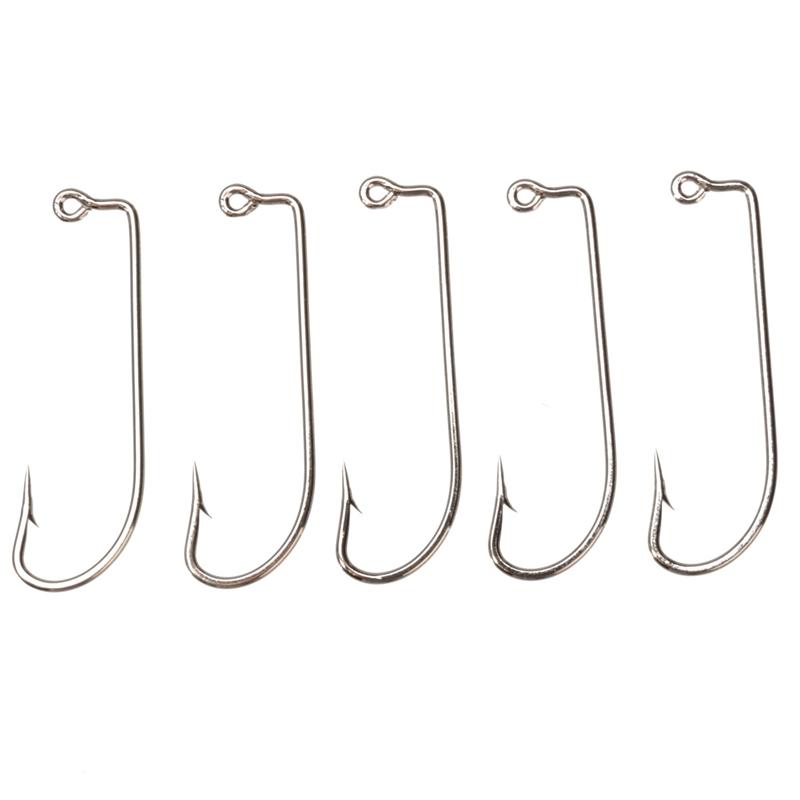High Quality Size 3 0 Fishing Tools Lot 100PCS Jig Hook Jig Big Stainless Steel Fishing