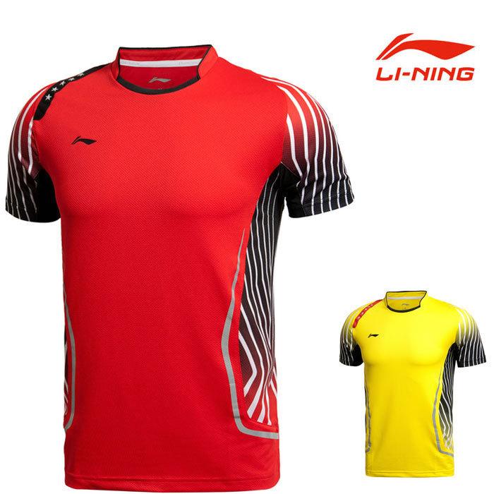 AAYJ123 Li-ning Sports Leisure Men and Women Badminton Jersey Lining World Championship National Team T-Shirt Clothing Set L211(China (Mainland))