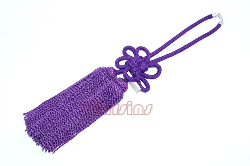 ONE PIECE JP JUNCTION PRODUCE CAR LUXURY VIP PURPLE FUSA KIKU KNOTS GOOD LUCKLY KNOT FOR CAR REARVIEW MIRROR(China (Mainland))