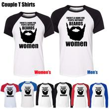 There Is A Name For People Without Beards Funny Design Printed T-Shirt Women's Girl's Tee Tops Red or Black Sleeve