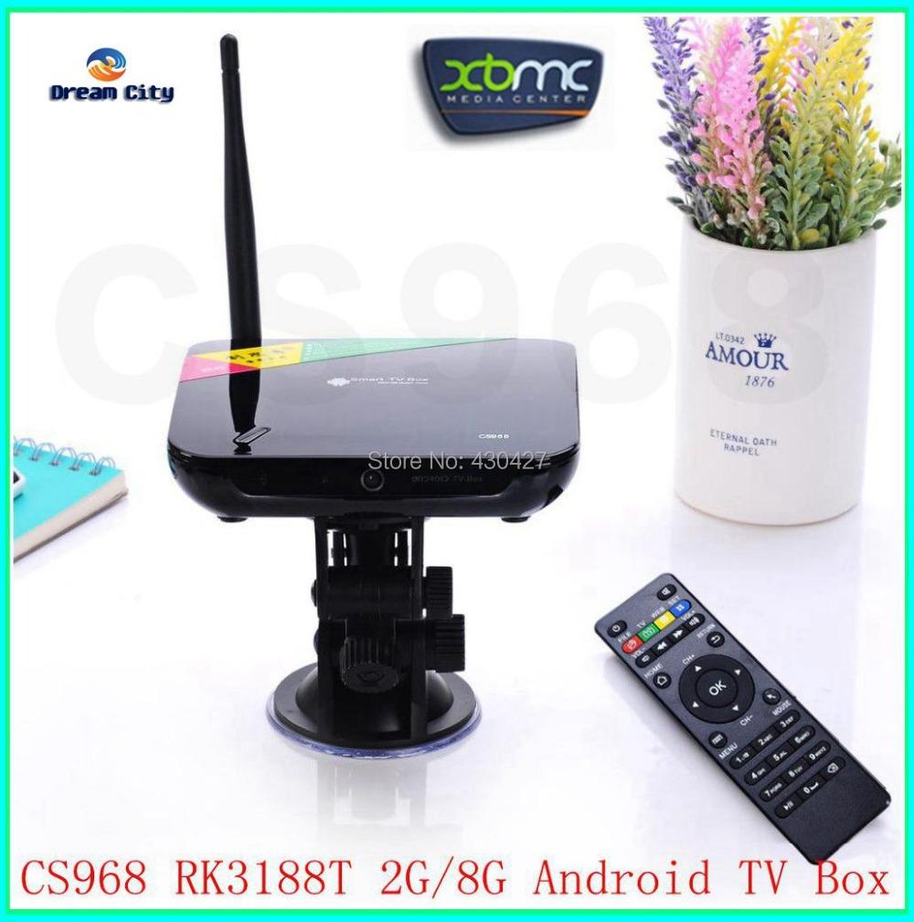 CS968 Quad Core RK3188 Android 4.2 Bluetooth XBMC Miracast RJ45 TV Box Media Player Built in 2.0MP Camera MicoPhone 2GB/8GB