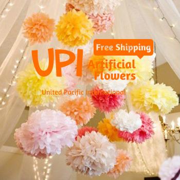 15cm (6inch) 5Decorative Paper Flower Pom Poms Wedding/Home Decoration, - Union Pacific International Trading Ltd. store