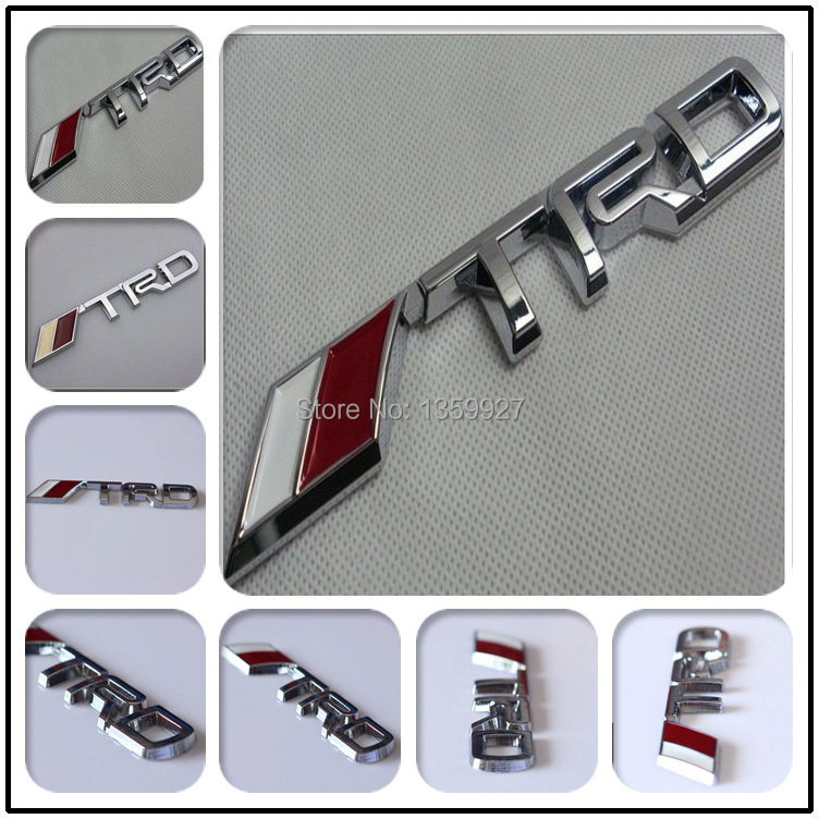 3D Modified Car badge Sticker Styling TRD Metal Emblem for toyota silver black