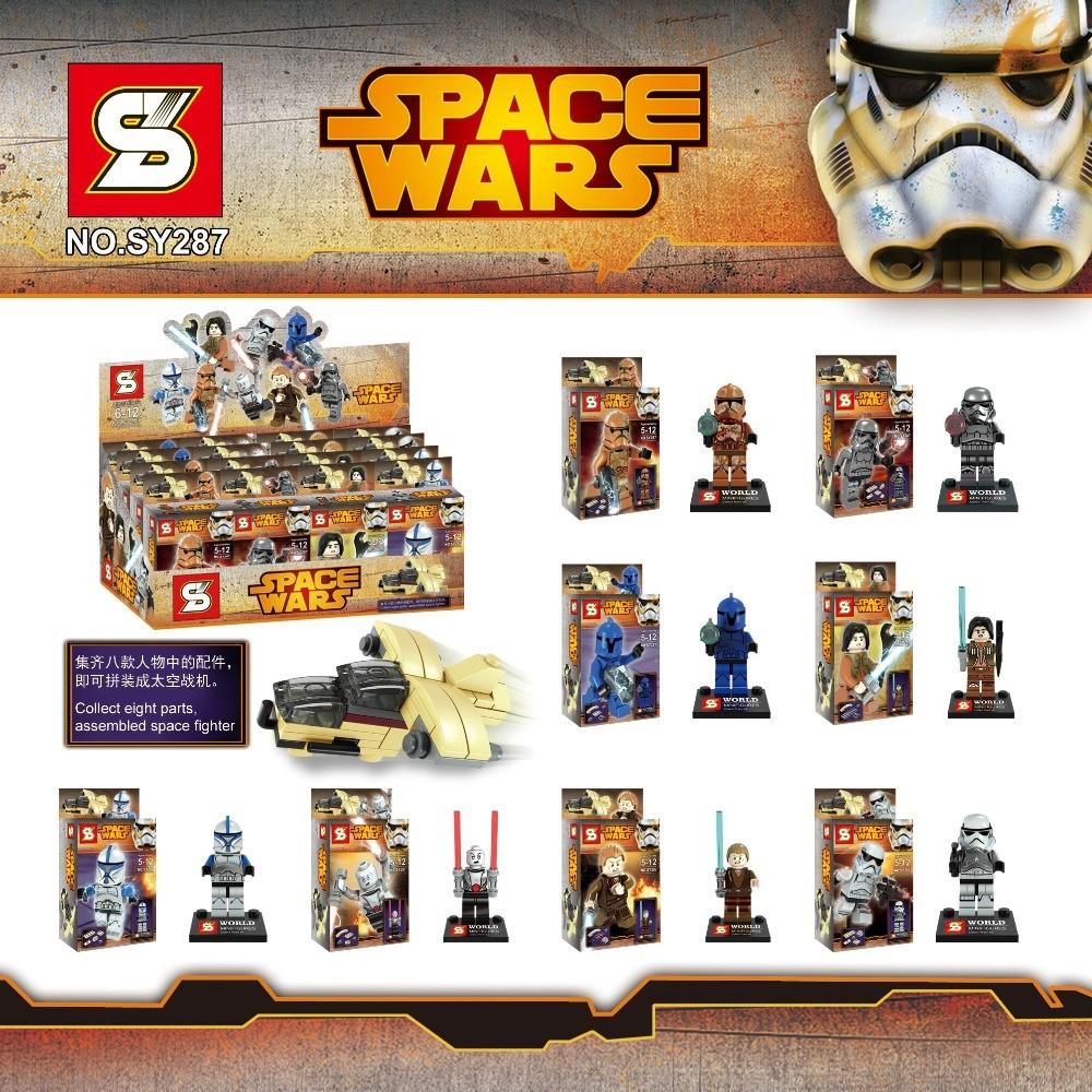 80pcs Super Heroes Avengers Star Wars SY287 Building Blocks Minifigures Clone storm Trooper Yoda Obi-Wan Bricks Figures Toys<br><br>Aliexpress