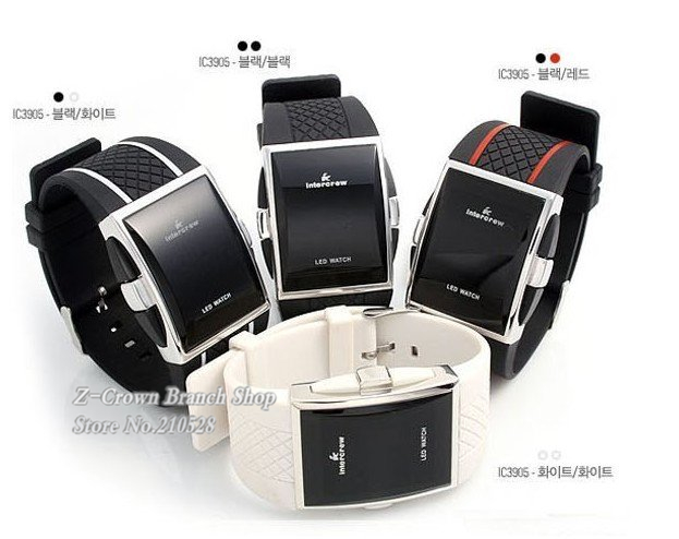 Fashion Mens Lady Women Digital Red Blue Led Sports Wrist Watch LED Clock Wristwatch Brand New Designer Novelty item Gift - Z-CROWN NETWORKING LTD ----24hours online store