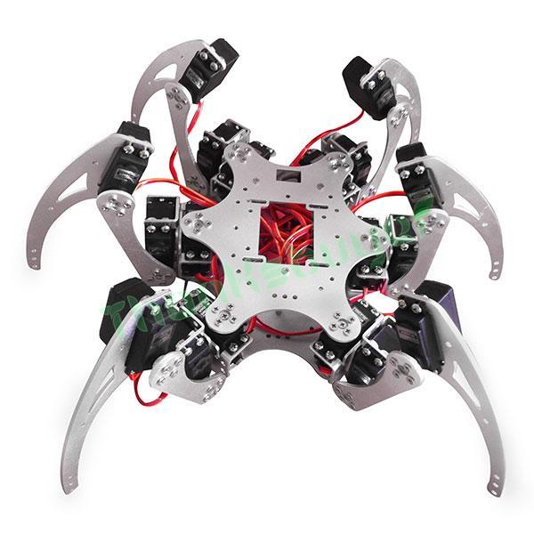18DOF Aluminium Hexapod Spider Six Legs Robot Kit w/ 18pcs Servo Horn &amp; Ball Bearing Fully Compatible<br><br>Aliexpress
