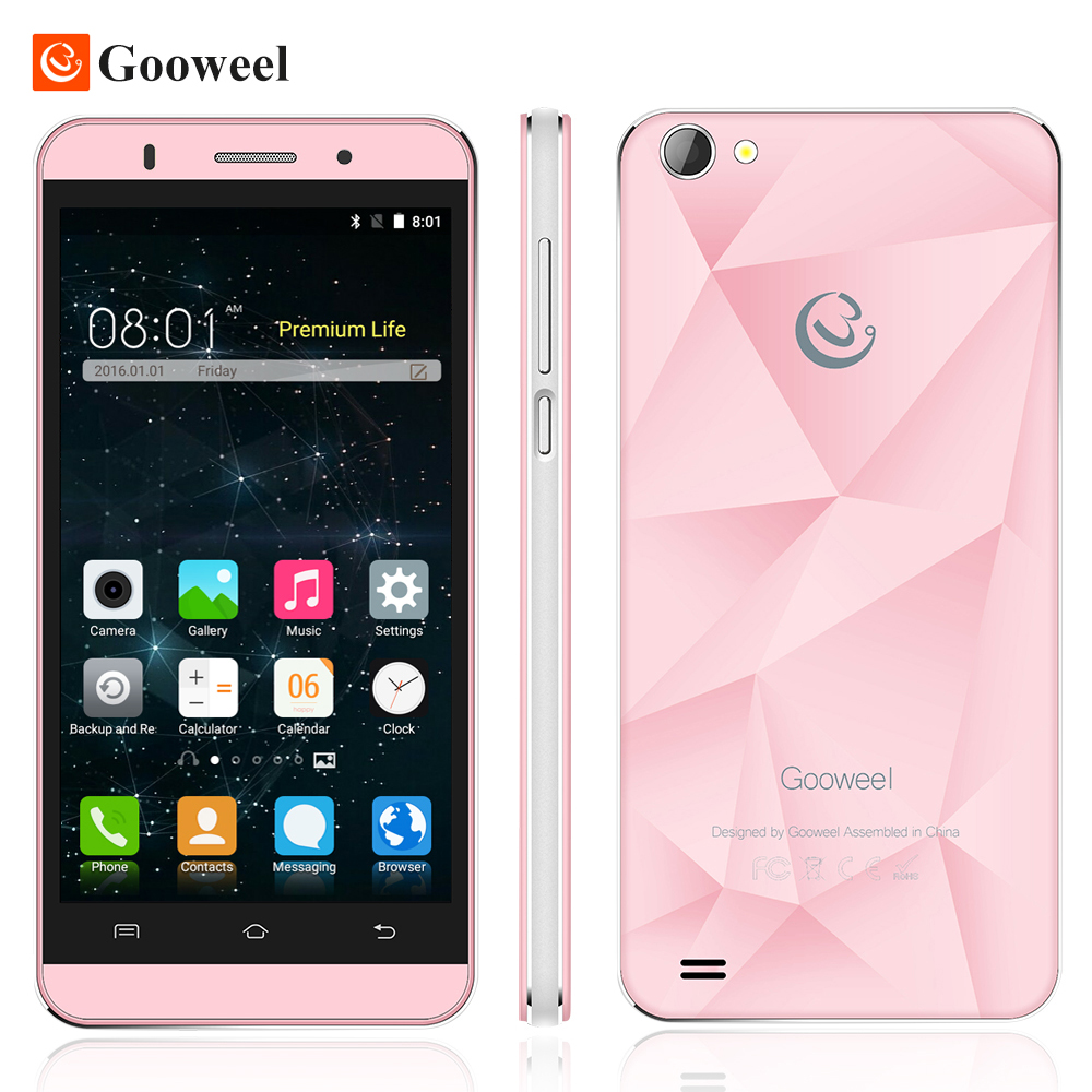 Original Gooweel M5 Pro mobile phone MT6580 quad core 5 inch IPS smartphone 1GB RAM 8GB ROM 5MP+8MP camera GPS 3G cell phone(China (Mainland))