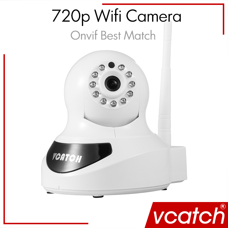 Free Shipping IP Camera Wifi Wireless CCTV 720P HD Camera Baby P2P Monitor Security P/T Micro Camera Surveillance Vcatch(China (Mainland))