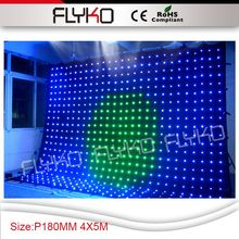 Free shipping p18 4x5m, PC controller, 594pcs leds,LED curtain wall screen(China (Mainland))