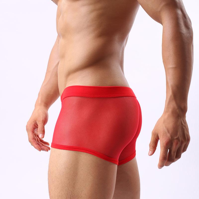 Mens Underwear Transparent Men Underwear Low Waist Slim