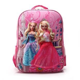Breathable 3D barbie princess cartoon bags, girls cartoon shoulder bag, children's school bag(China (Mainland))
