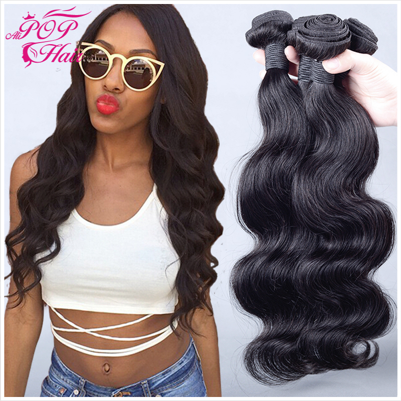 "6A Brazilian virgin hair body wave 4pcs Queen hair products,unprocessed brazilian hair weave bundles 8""-30"" human hair weave(China (Mainland))"