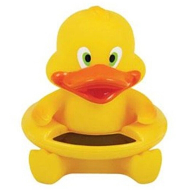 New Cute Yellow Duck Bath Tub Baby Infant Thermometer Water Temperature Tester Toy Free Shipping(China (Mainland))