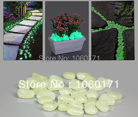 Garden decoration color glow stone home ornaments luminous pebble stone fish tank potting decoration aquarium fluorescent stone(China (Mainland))