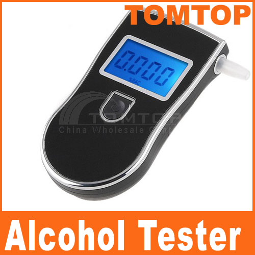 2016 Police Alcotester Digital Breath Alcohol Detector Gadgets Professional Breathalyzer Portable Alcohol Tester(China (Mainland))