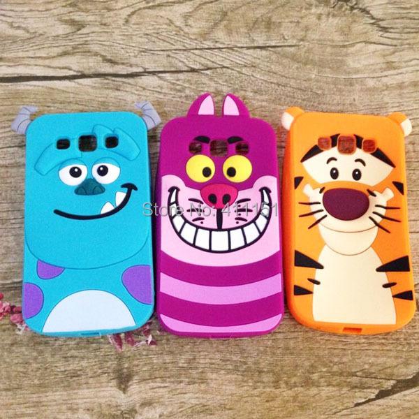 Cute 3D Cartoon Tigger Sulley Cheshire Cat Silicone Case Back Cover Samsung Galaxy Win i8550 i8552 - ALEX ZHOU Store store