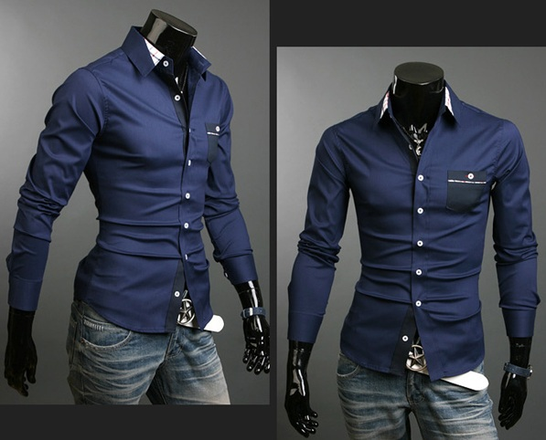 A Navy Blue Dress Shirt For Men also has the same importance or impression that a suit has on the crowd. It's vital to differentiate navy blue from other shades of blue. It's vital to differentiate navy blue from other shades of blue.