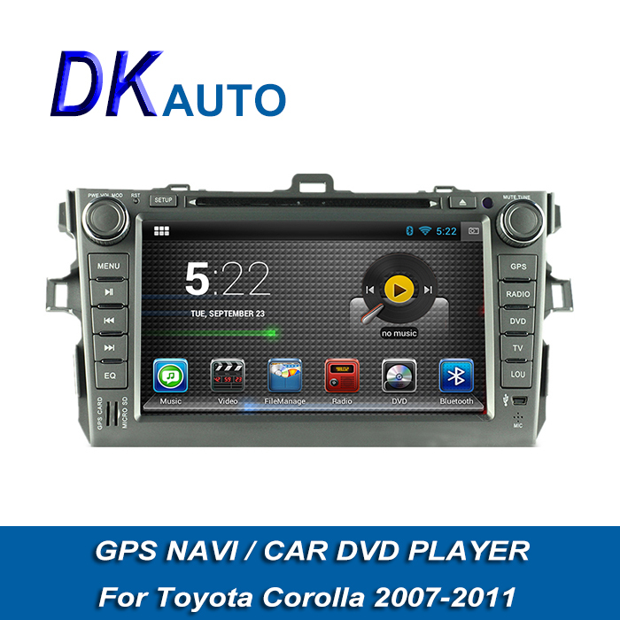 2 Din Android Autoradios for Toyota Corolla 2007 2008 2009 2010 2011 2din Car Audio Stereo GPS Navigation Som Automotive DVD(China (Mainland))