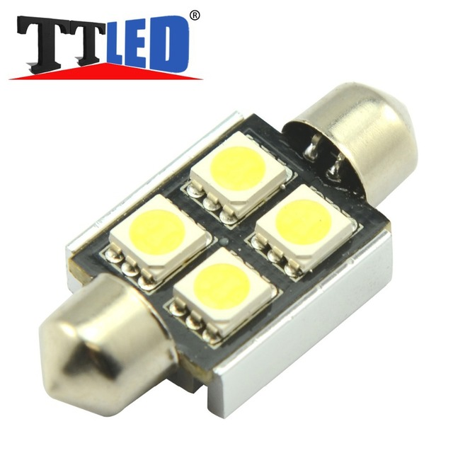 4X C5W 4 smd 31mm 36mm 39mm 41mm Festoon Canbus Dome interior car led Reading Auto light Bulbs white blue red 12V DC #TK17-1
