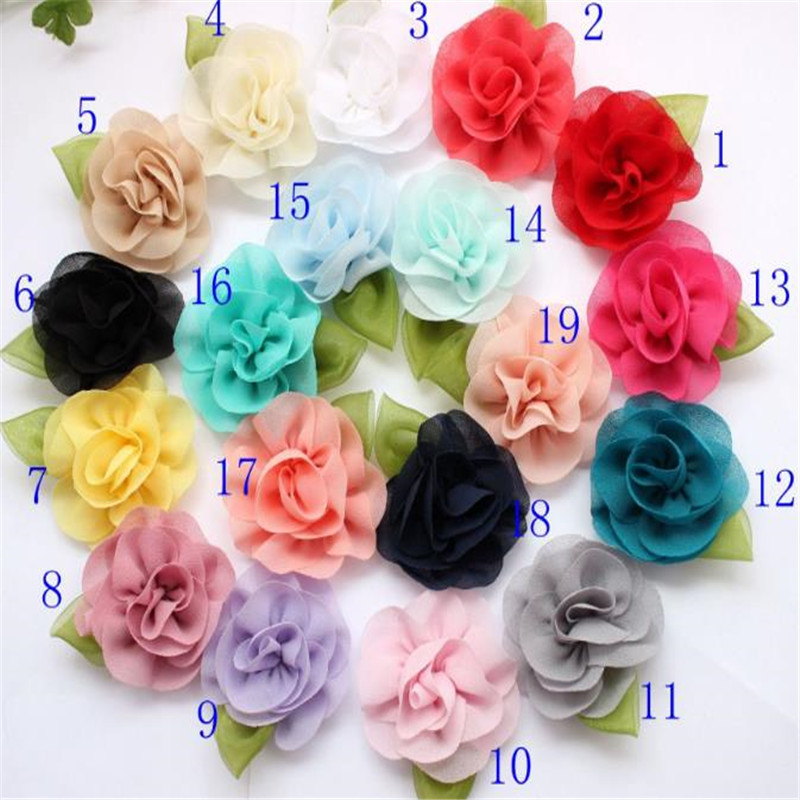 Patch clothes sewing biker patches for clothing embroidery 3D patches chiffon stereo roses with leaves logo badge free shipping(China (Mainland))