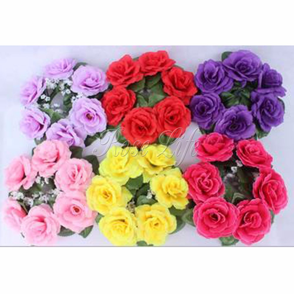 get cheap flower candle rings aliexpress