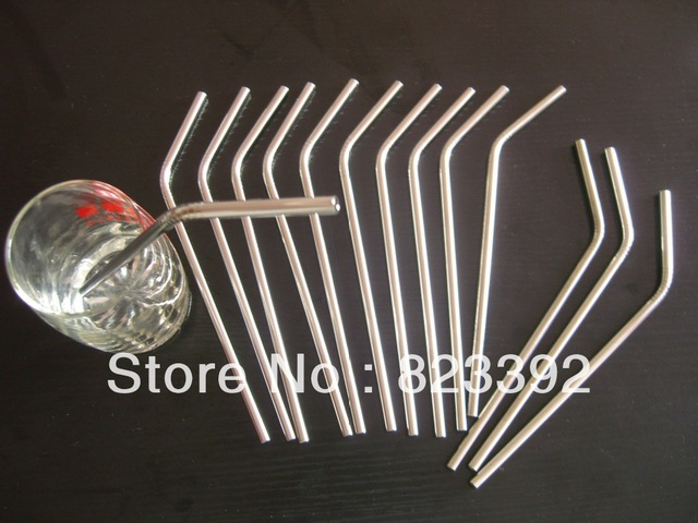 Free shipping 10Pieces Stainless steel straw with a small diameter stainless steel tube 6X0.3