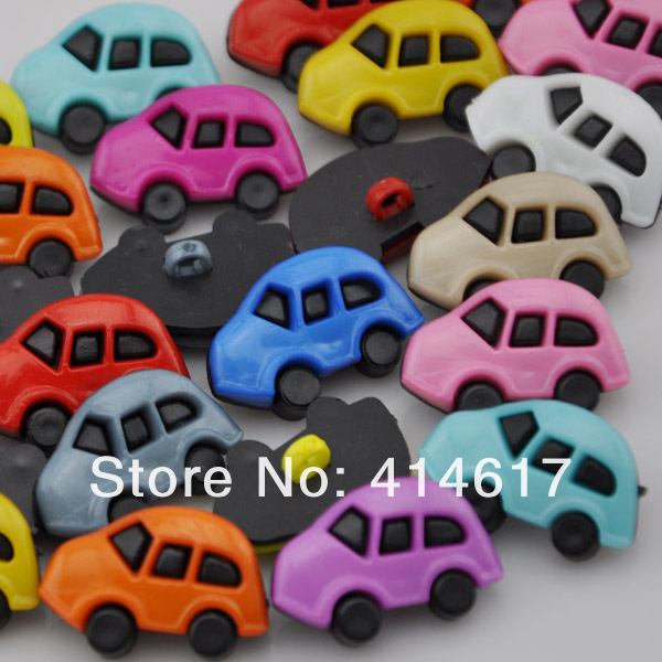 10pcs Mix Color 24mm Sedan Car Plastic Buttons Sewing Crafts Accessories(China (Mainland))