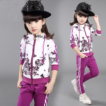 Buy 2017 New Spring&Autumn Baby Girls Clothes Jacket Floral Kids Hoodies+Pants Kids Tracksuit Child Clothing Sets Girls Sport Suit for $17.99 in AliExpress store